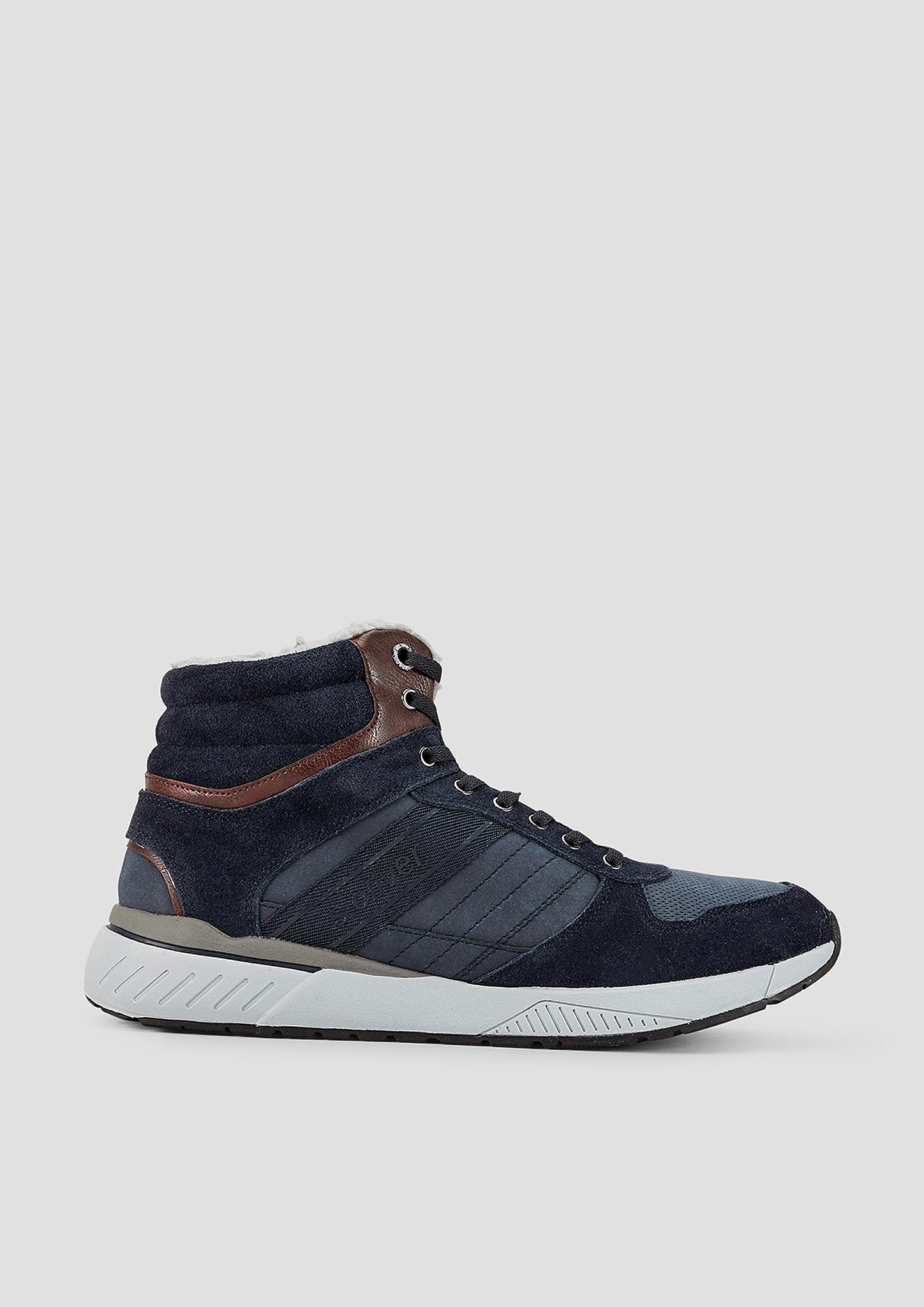 Wintersneaker | Schuhe > Sneaker | Blau | Obermaterial aus echtleder -  synthetik und textil| futter und decksohle aus textil| laufsohle aus synthetik | s.Oliver
