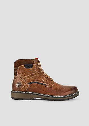 Gefütterte Leder-Boots