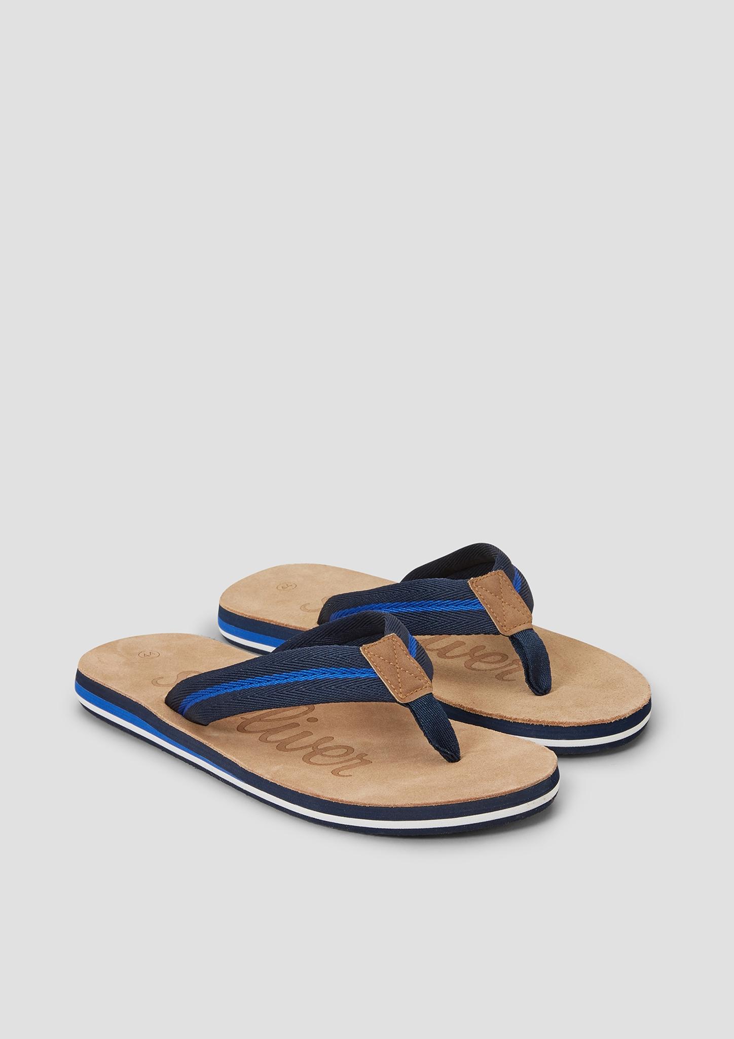 Zehenpantolette | Schuhe > Clogs & Pantoletten | Blau | Obermaterial: materialmix aus textil und synthetik| futter: textil| decksohle: leder| laufsohle: synthetik | s.Oliver