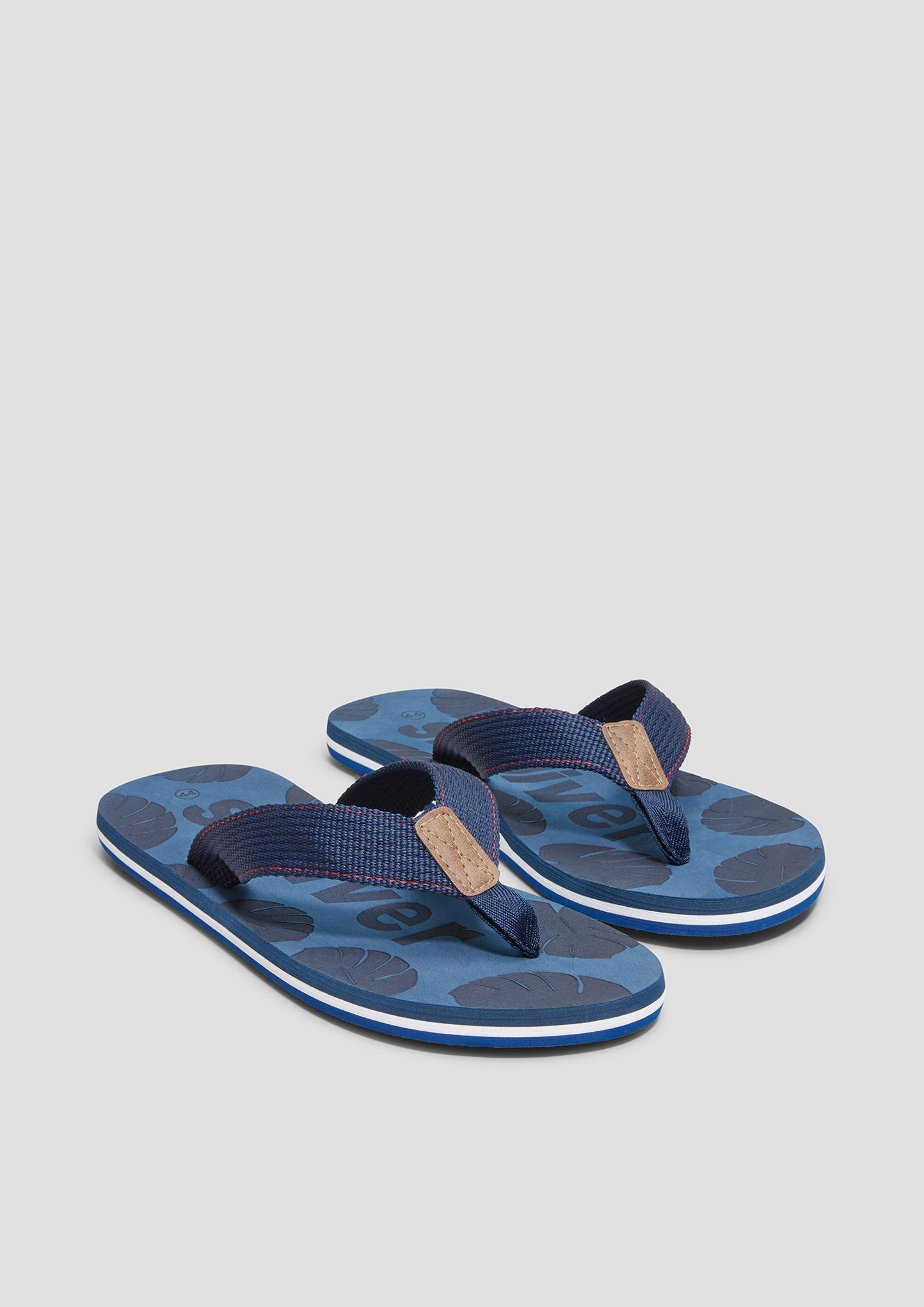 Pantoletten | Schuhe > Clogs & Pantoletten > Pantoletten | Blau | Obermaterial: materialmix aus textil und synthetik| futter: textil| decksohle: synthetik| laufsohle: synthetik | s.Oliver