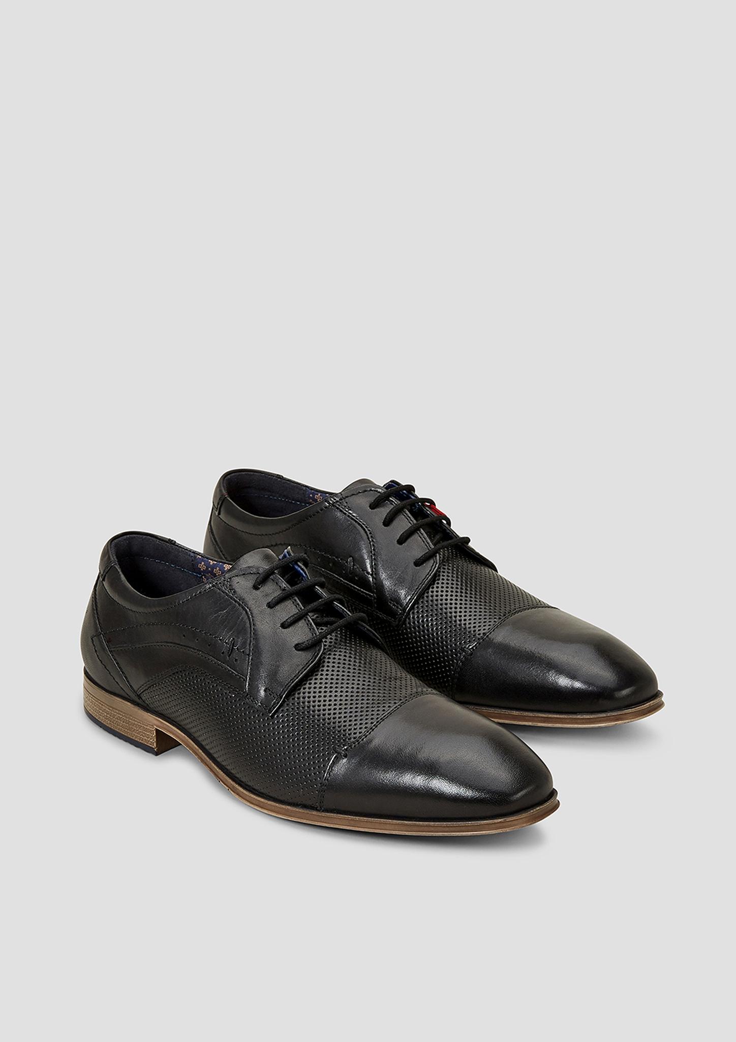 Leder-Halbschuhe | Schuhe > Boots > Boots | Schwarz | Obermaterial: leder| futter: textil| decksohle: textil| laufsohle: synthetik | s.Oliver