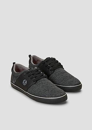 Sneaker mit Leder-Look-Details