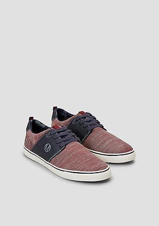 Sneakers met imitatieleren details