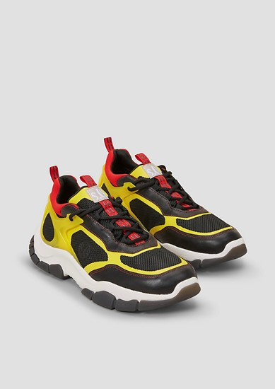 Chunky Sneaker im Fabric Mix