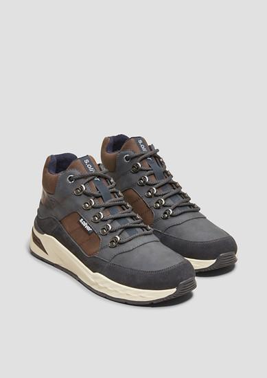 Sneaker Boots aus Ledermix