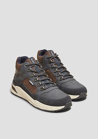 Sneakers montantes en mélange de cuirs de s.Oliver