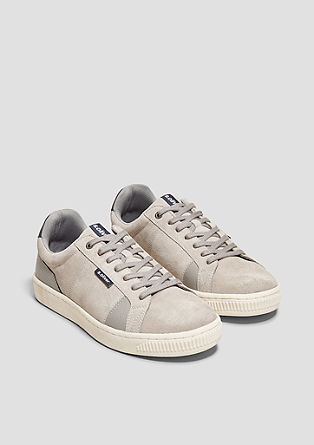 Sneakers in retrolook van suède