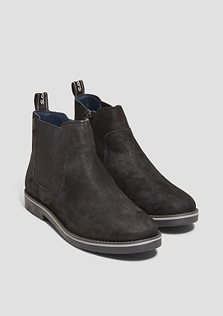 Chelsea-Boots aus Veloursleder