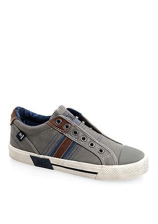 Slip-on Sneaker in Leder-Optik