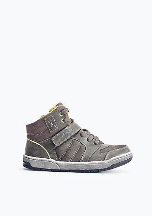 High Sneaker mit Neon-Details