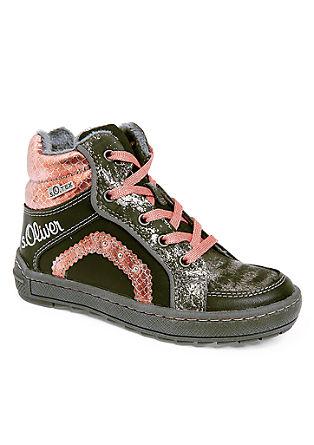 Svetleči čevlji na vezalke iz materiala Tex