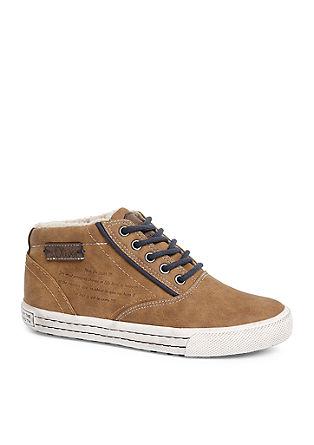 Gevoerde high top sneakers
