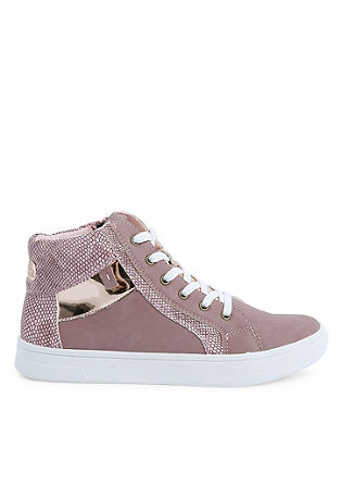 High Sneaker mit Metallic-Details