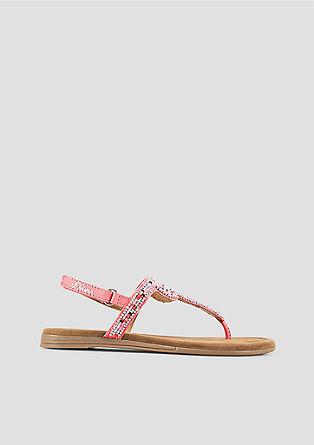 Sandalen met siersteentjes
