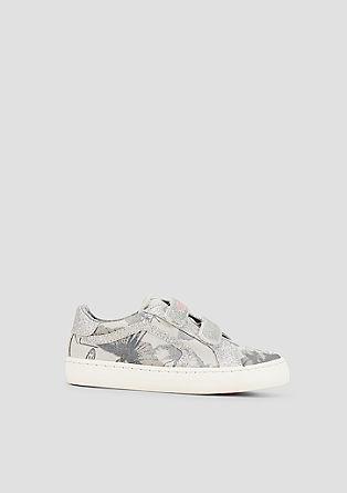 Glitzer-Sneaker mit Klettverschluss