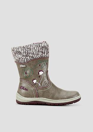 Tex-Stiefel mit Stickereien
