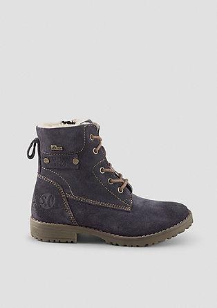 Klassische Stiefel aus Veloursleder
