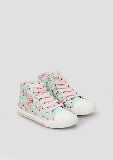 Hoge sneakers met borduursel