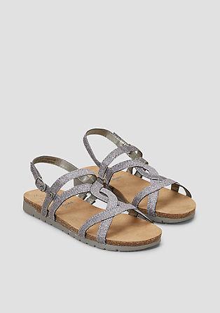 Sandalen im Glitzer-Look