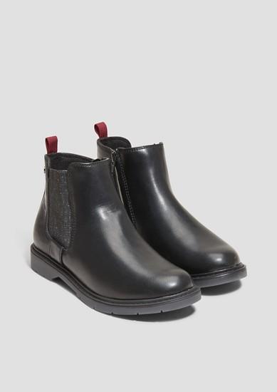Chelsea Boots mit Glitzer-Einsatz