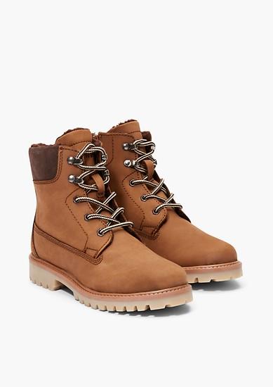 Boots en cuir à doublure en peluche de s.Oliver