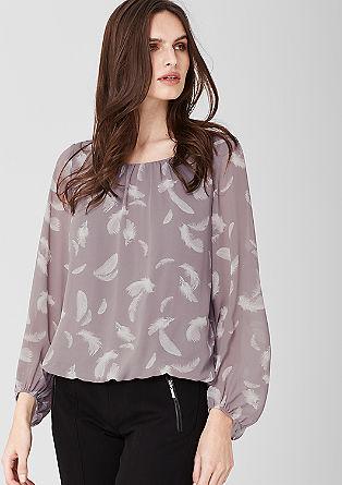 Blusenshirt mit Muster-Print