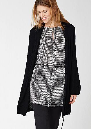Long cardigan with belt from s.Oliver