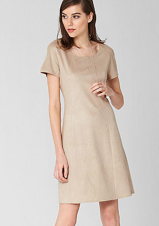 Suede-look dress from s.Oliver