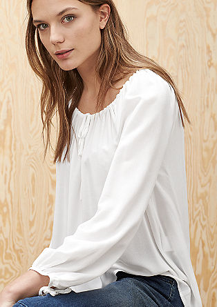 Feminine viscose blouse from s.Oliver