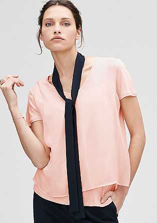 Top with chiffon layers from s.Oliver