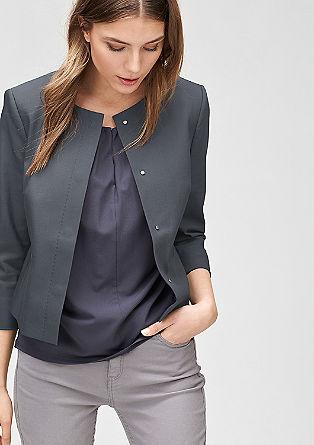 Blazer-Jacke aus Baumwollstretch