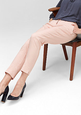 Slim: patterned 7/8-length trousers from s.Oliver