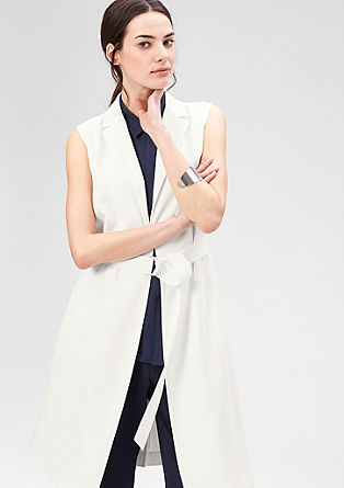 Elegant long waistcoat with a belt from s.Oliver