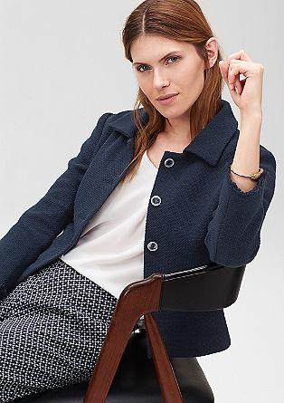 Textured short blazer from s.Oliver