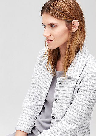 Striped short blazer from s.Oliver