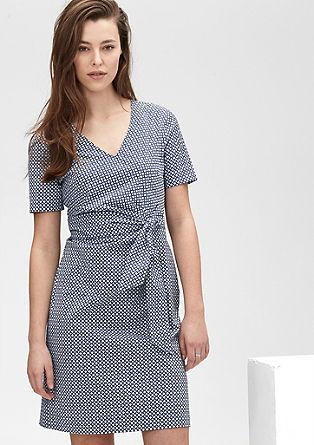Drapé-Kleid mit Muster