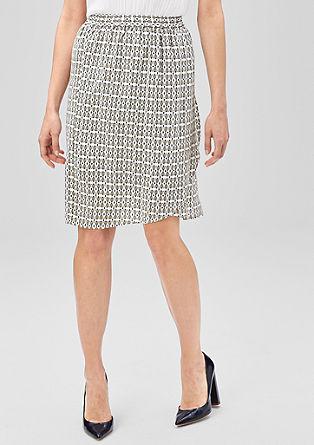 Printed rok in een wikkellook
