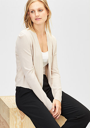Lightweight piqué cardigan from s.Oliver