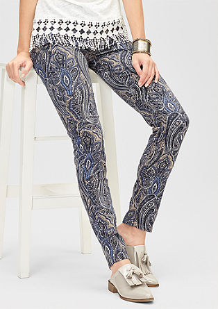 Slim: jeans with diamond pattern from s.Oliver
