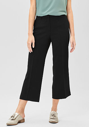 Crêpe culottes in a business look from s.Oliver