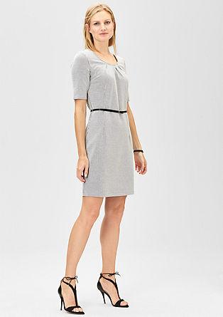 Legeres Jacquard-Kleid mit Gürtel