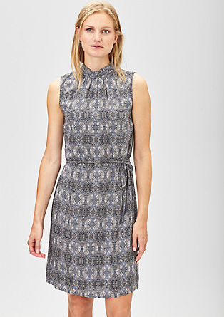 Viscose dress with band collar from s.Oliver