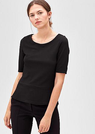 T-Shirt mit Struktur-Muster