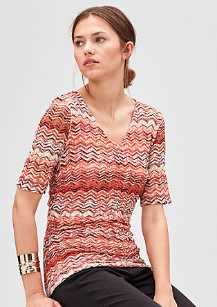 Lace top with a printed pattern from s.Oliver