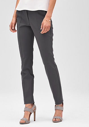 Narrow stretch trousers with darts from s.Oliver