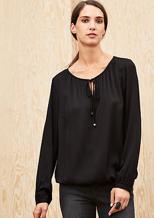 Flowing tunic blouse in satin from s.Oliver