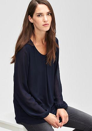 Blouseachtig shirt met transparant effect