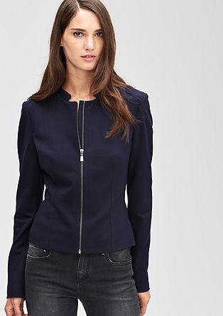 Jersey-Blazer mit Zipp