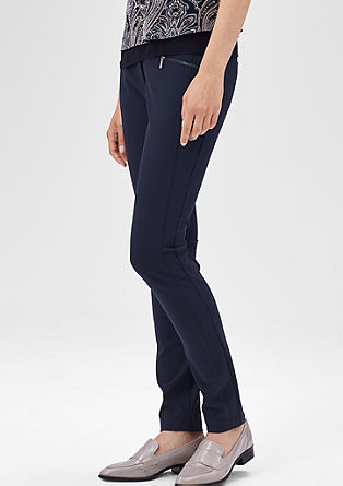 Slim: stretch trousers with seams from s.Oliver