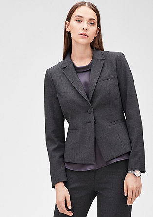 Melange stretch blazer from s.Oliver